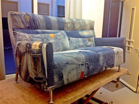 Levis Furniture by Denim Patchwork Furniture Sofa Used
