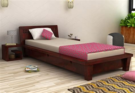 Low Single Bed With Mattress by Single Beds Buy Wooden Single Bed India Upto 60