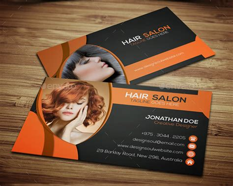 hairdresser business card templates free 30 hair stylist business cards free free
