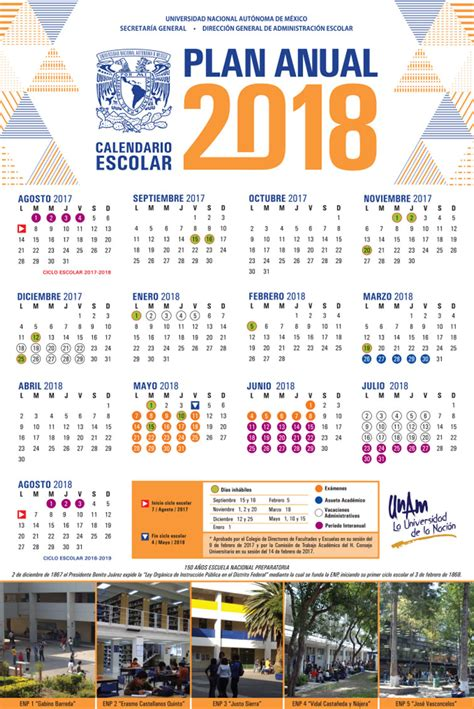 Calendario Escolar Unam Fes Acatlan Calendarios Escolares Unam