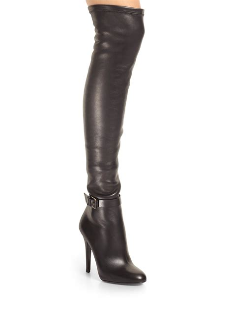 jimmy choo boots jimmy choo tamba stretchleather overtheknee boots in black