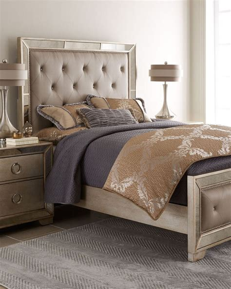 Mirrored Headboard Bedroom Set horchow lombard bedroom furniture mirrored headboard images frompo