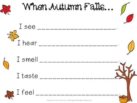 fall writing template fall into speech language ideas resources