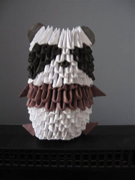 Origami 3d Panda - 3d origami panda by origamigenius on deviantart