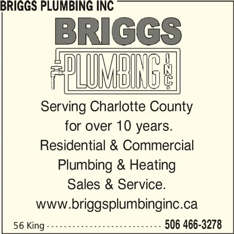 Steve King Plumbing by Briggs Plumbing Inc St Stephen Nb 56 King St Canpages
