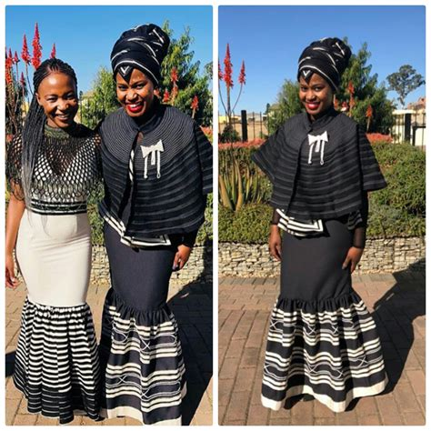 ladies  xhosa umbhaco traditional attire clipkulture