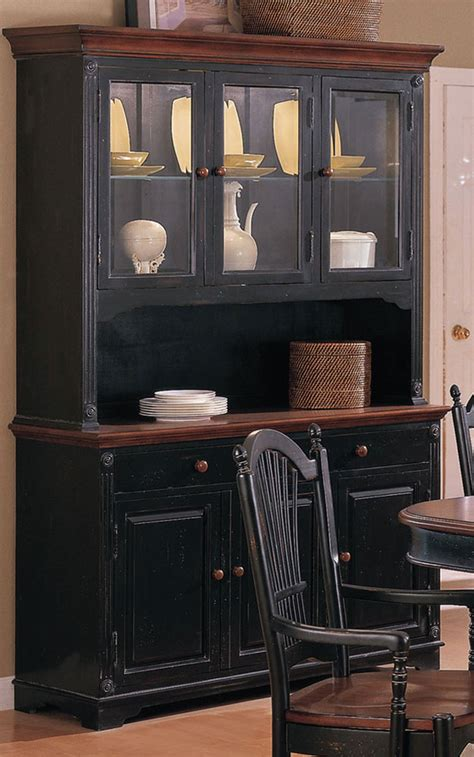 cottage collection cherry 51 quot buffet with hutch by