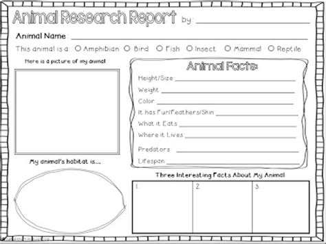 Free Animal Report Template Animal Habitats Free Printables Interactive Sites And More