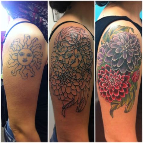 tattoo cover designs vintage flowers cover up betzy eaton tattoos