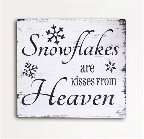 items similar to snowflakes are kisses from heaven 9x10
