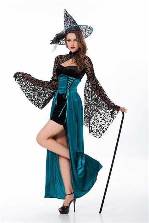 Set Kostum Costume Murah 2015 new high quality back mini skirt with blue dress witch costume set wholesale
