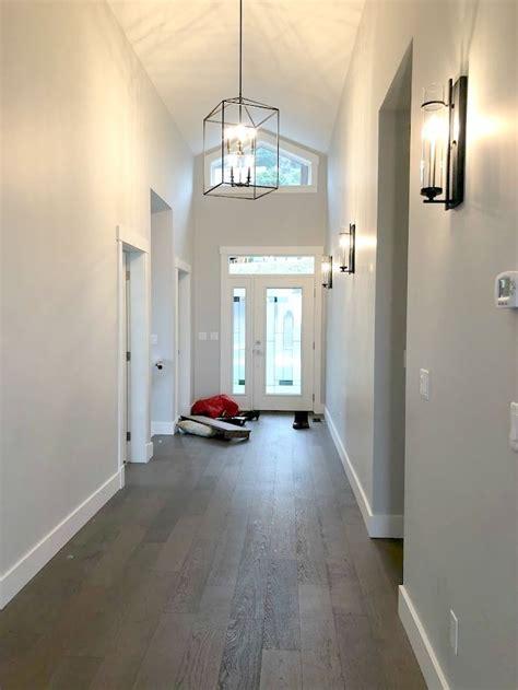entryway sherwin williams collonade gray paint