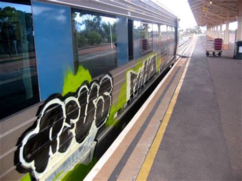spray painter kalgoorlie graffiti vandals hit prospector