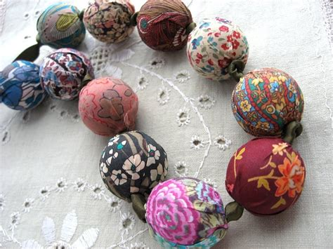 froo*gal: Liberty of London Fabric Bead Necklace Kits for Fall
