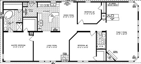 2000 Sq Ft Ranch House Plans by 2000 Sq Ft And Up Manufactured Home Floor Plans