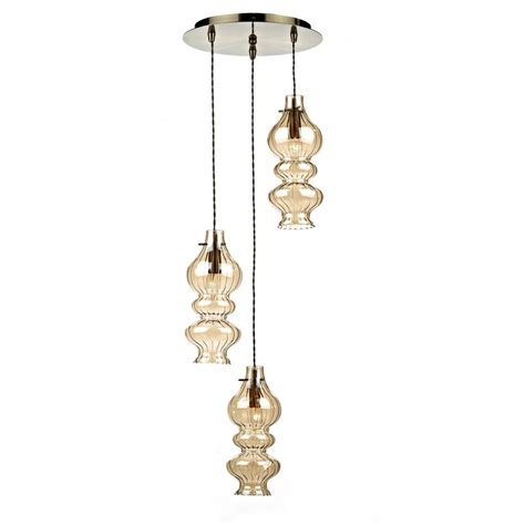 rodeo rod0320 3 l spiral pendant light with chagne