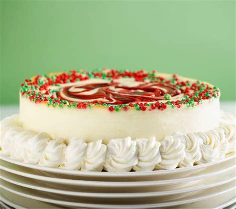 junior s 8 inch strawberry swirl christmas cheesecake