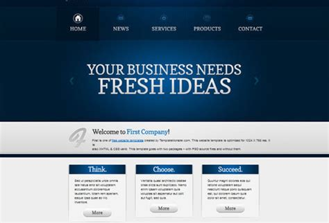 html5 template business 50 beautiful yet free html5 and css3 templates