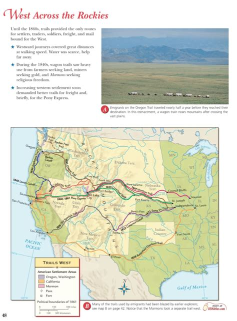 West Across The Rockies Worksheet