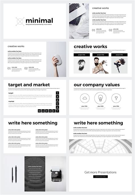free minimal templates free minimal powerpoint template on behance