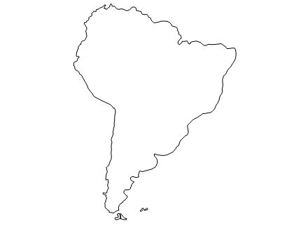 South And America Map Outline by Smart Exchange Usa South America Outline