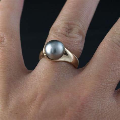 best 25 black pearl rings ideas on black