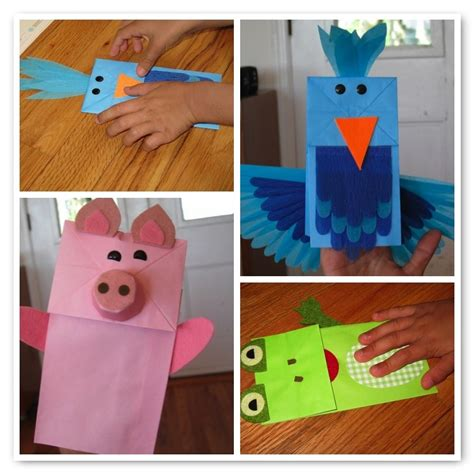 How To Make A Puppet Using Paper - paper bag puppets alpha
