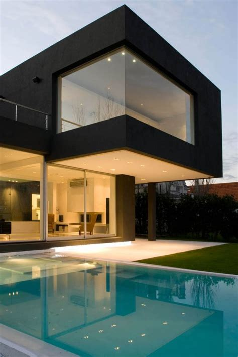 modern house with pool the black house for young couple casa mck digsdigs