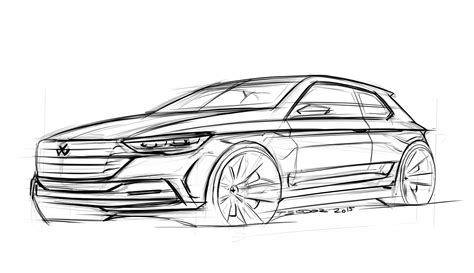 sketchbook car tutorial car sketch tutorial golf r youtube