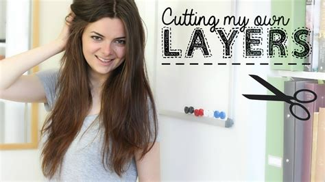 layering hair yourself using pony tail how i cut my hair in layers youtube