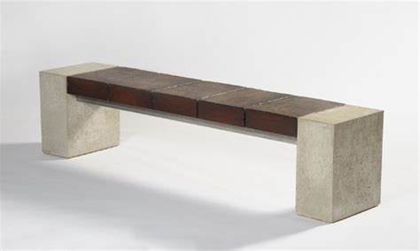 concrete and wood benches concrete and wood bench future projects pinterest