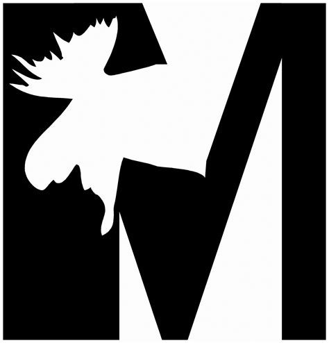 alphabet silhouette letter m free stock photo