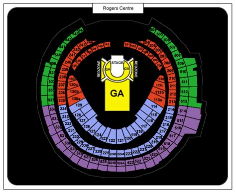 rogers centre seating plan for concerts u2 rogers centre tickets june 23 2017 at 7 00 pm at
