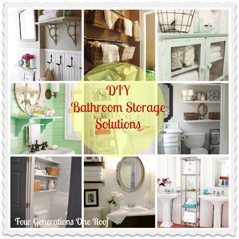 bathroom storage ideas diy our diy bathroom creative storage solutions aol real
