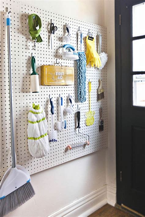 diy kitchen pegboard a beautiful mess 10 unique ways to use pegboards in your home laundry