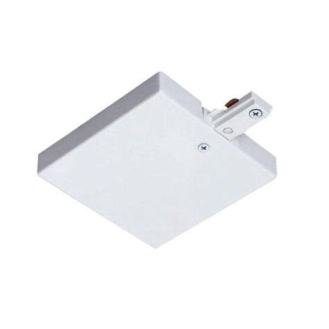 juno track lighting accessories juno trac lites white t bar end feed r36 wh the home depot