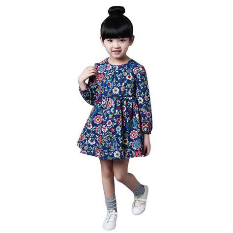 Dress Fashion Flower 4 fashion autumn dress casual sleeves flower princess dresses toddler