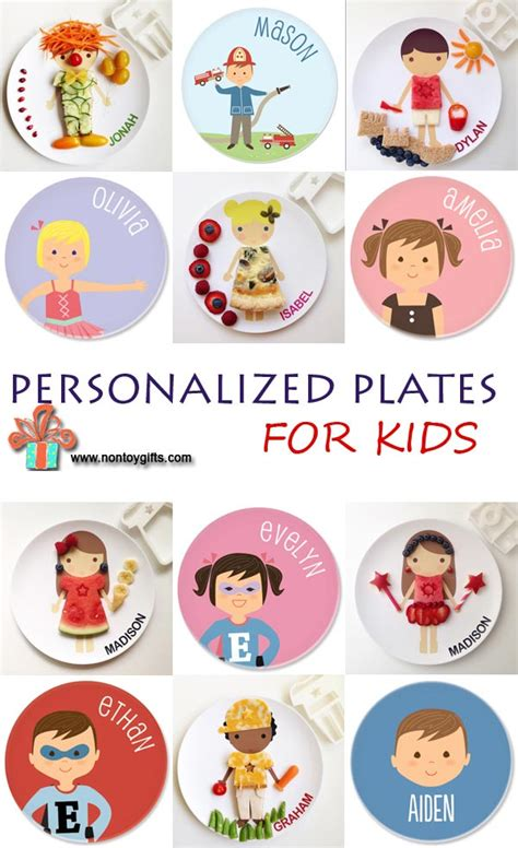 personalized plates for kids non toy gifts