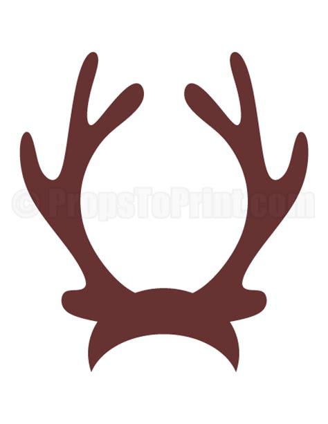 printable reindeer antlers craft printable reindeer antlers photo booth prop create diy
