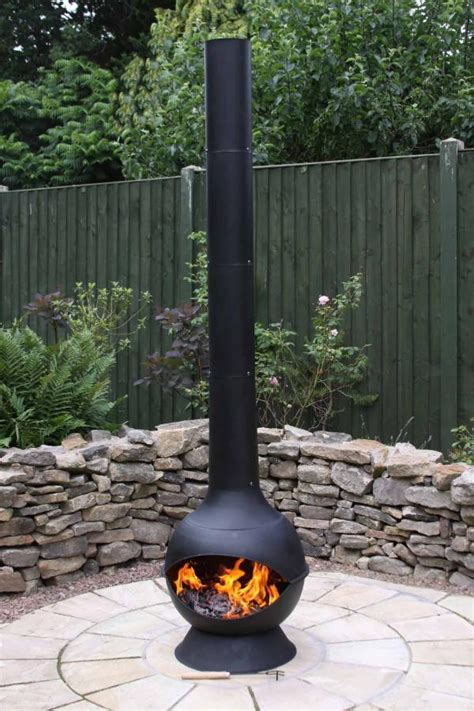 Large Contemporary Steel Chimenea Savvysurf Co Uk