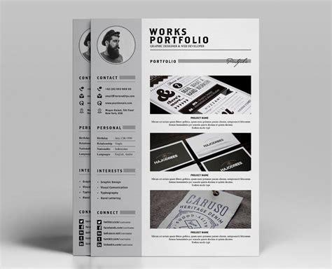 Portfolio Cv by Resume Portfolio Template Ya
