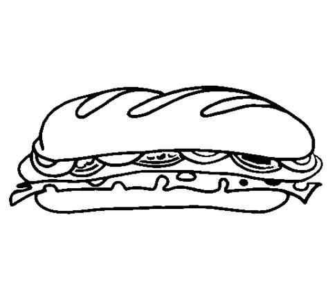 Sandwich Coloring Pages coloring page sandwich