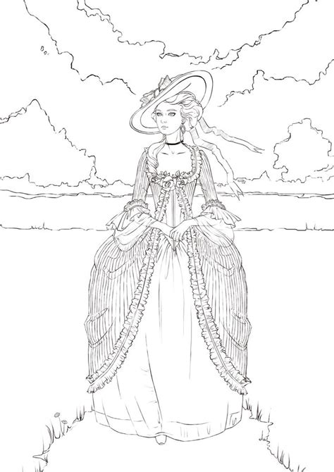 antoinette by ngaladel cute coloring book pinterest