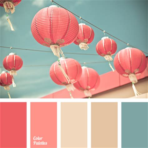 matching colours with pink a palette consisting of rather calm tones pink and coral