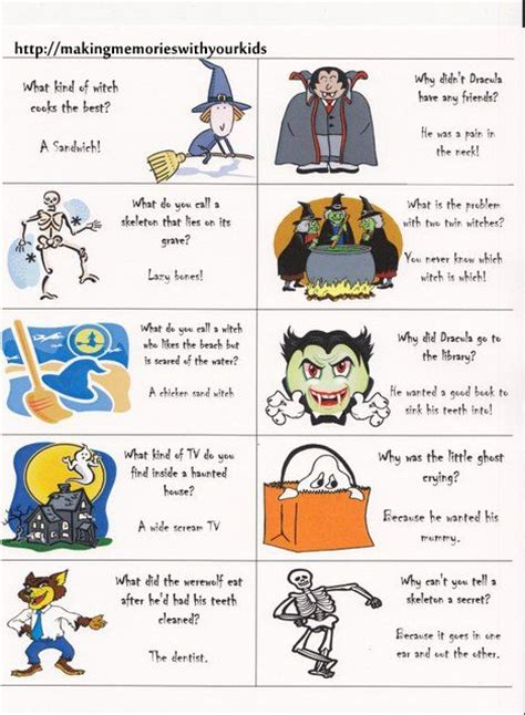 printable halloween jokes and riddles pinterest the world s catalog of ideas