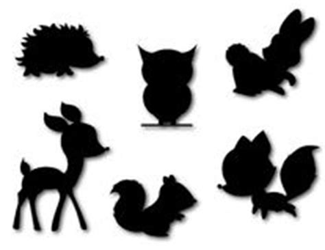 vector collection forest wild animals silhouette stock