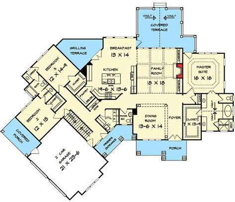 craftsman house plans with basement