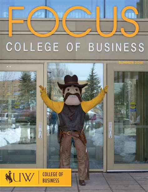 Capella Mba Program Dean Department Chair Marketing by Focus Summer 2016 Issue By Of Wyoming College