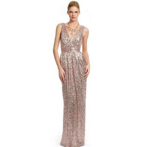 41316 V Neck Elegance Sml Dress plus size gold sequin sheath dresses robe v neck sleeveless