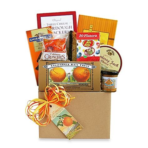 bed bath and beyond gift baskets california dreaming gourmet gift basket bed bath beyond